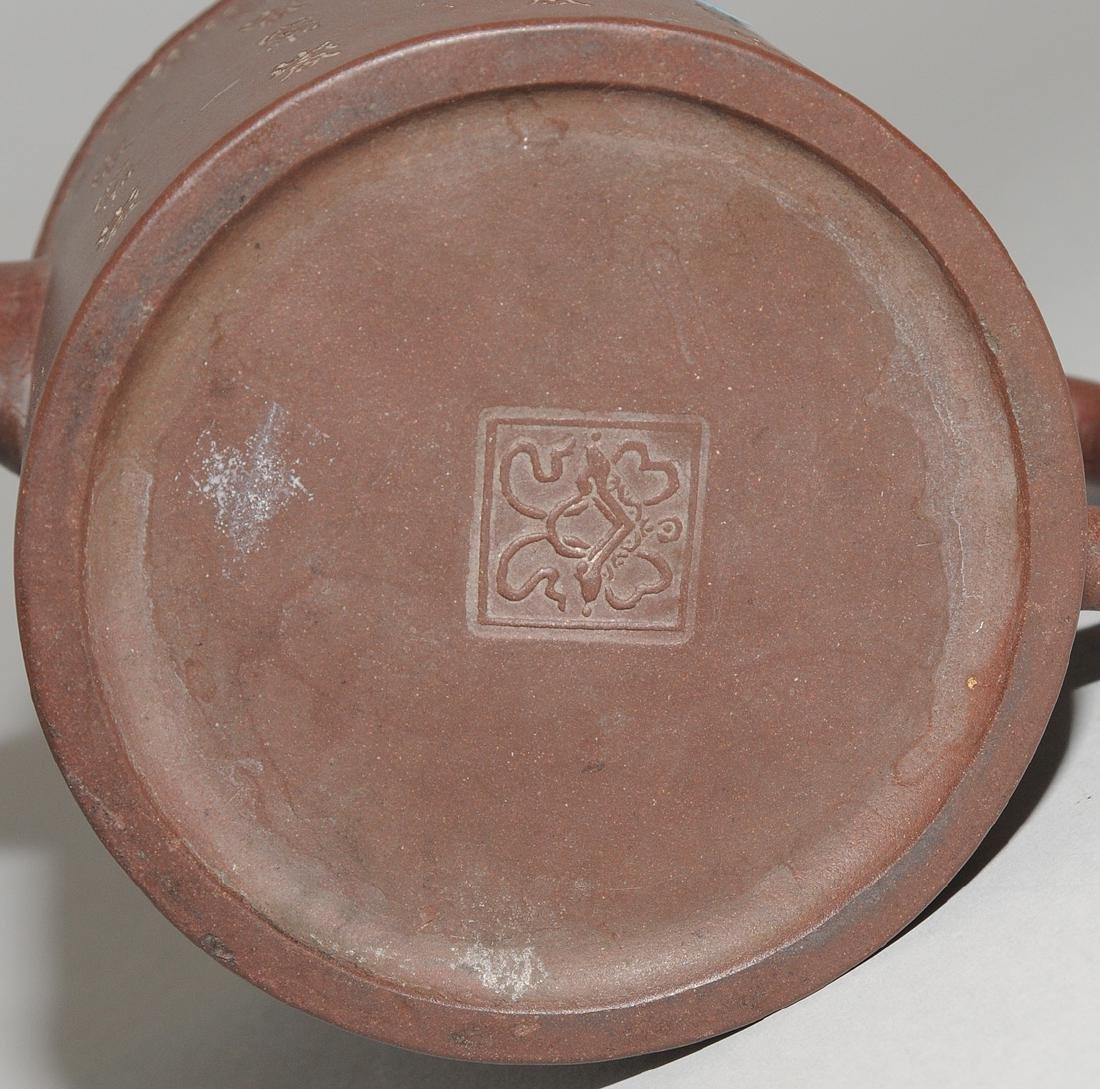 Lot: 2 Teekannen China, um 1900. Yixing-Keramik. - 9