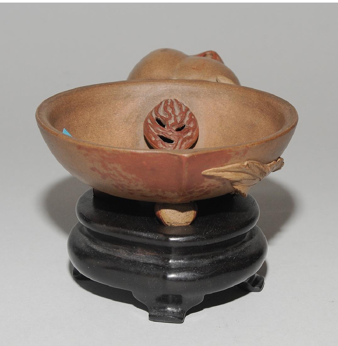 Pinselwäscher China, 20.Jh. Yixing-Keramik. In Form - 4