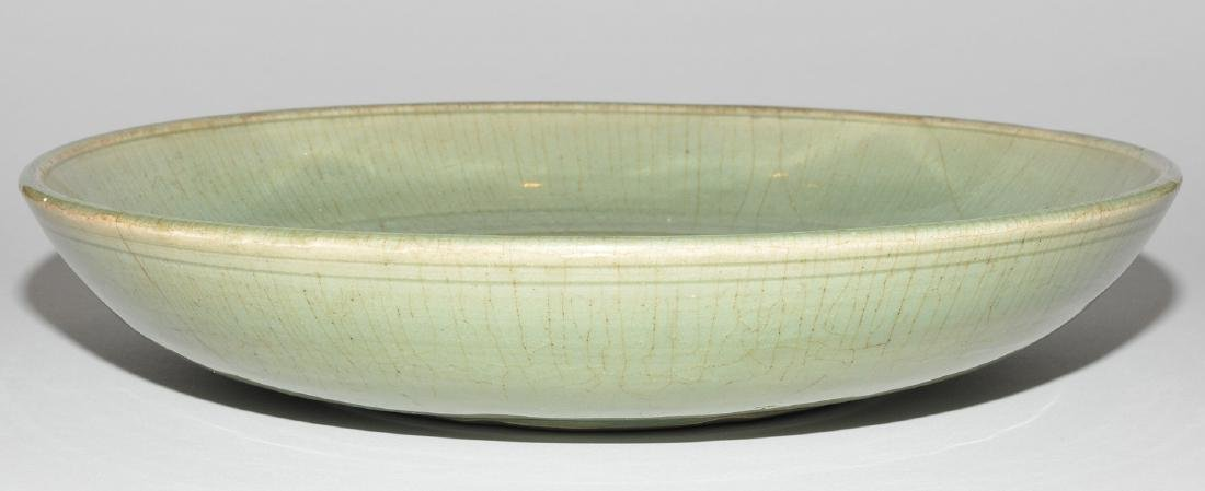 Platte China, wohl Ming-Zeit. Longquan. Celadon, - 3