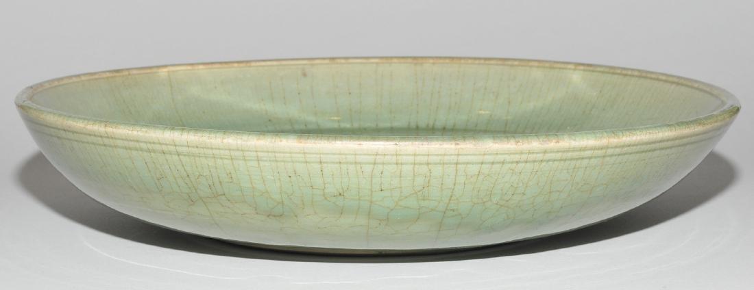 Platte China, wohl Ming-Zeit. Longquan. Celadon, - 4