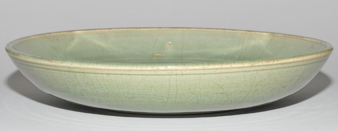 Platte China, wohl Ming-Zeit. Longquan. Celadon, - 5