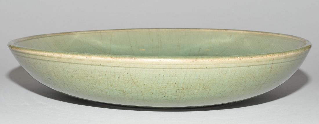 Platte China, wohl Ming-Zeit. Longquan. Celadon, - 6