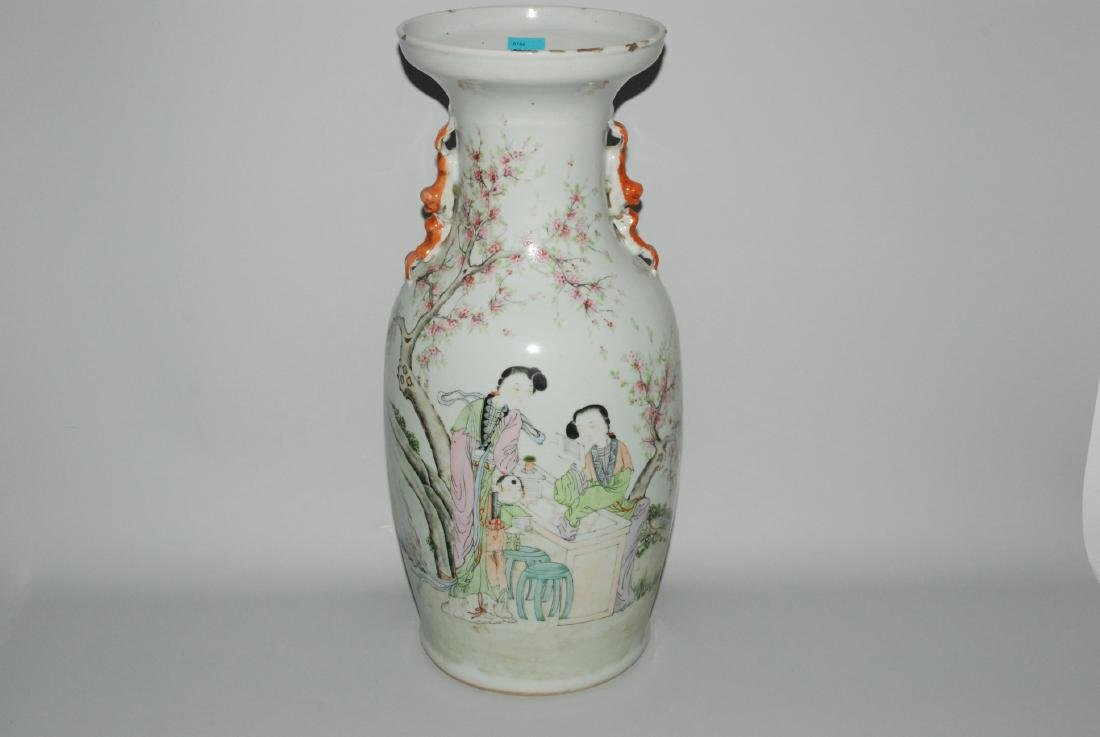 Balustervase China, 19.Jh. Porzellan. Balusterform,
