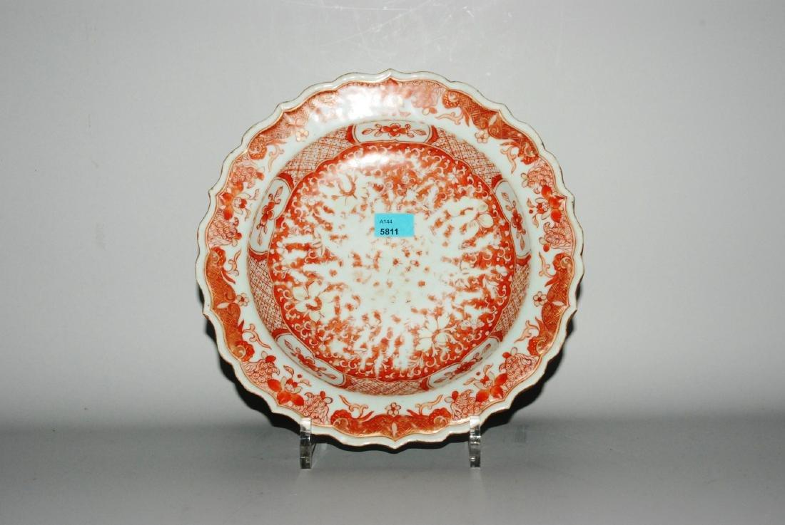 Tiefer Teller China, Ende 18.Jh. Porzellan. Passiger