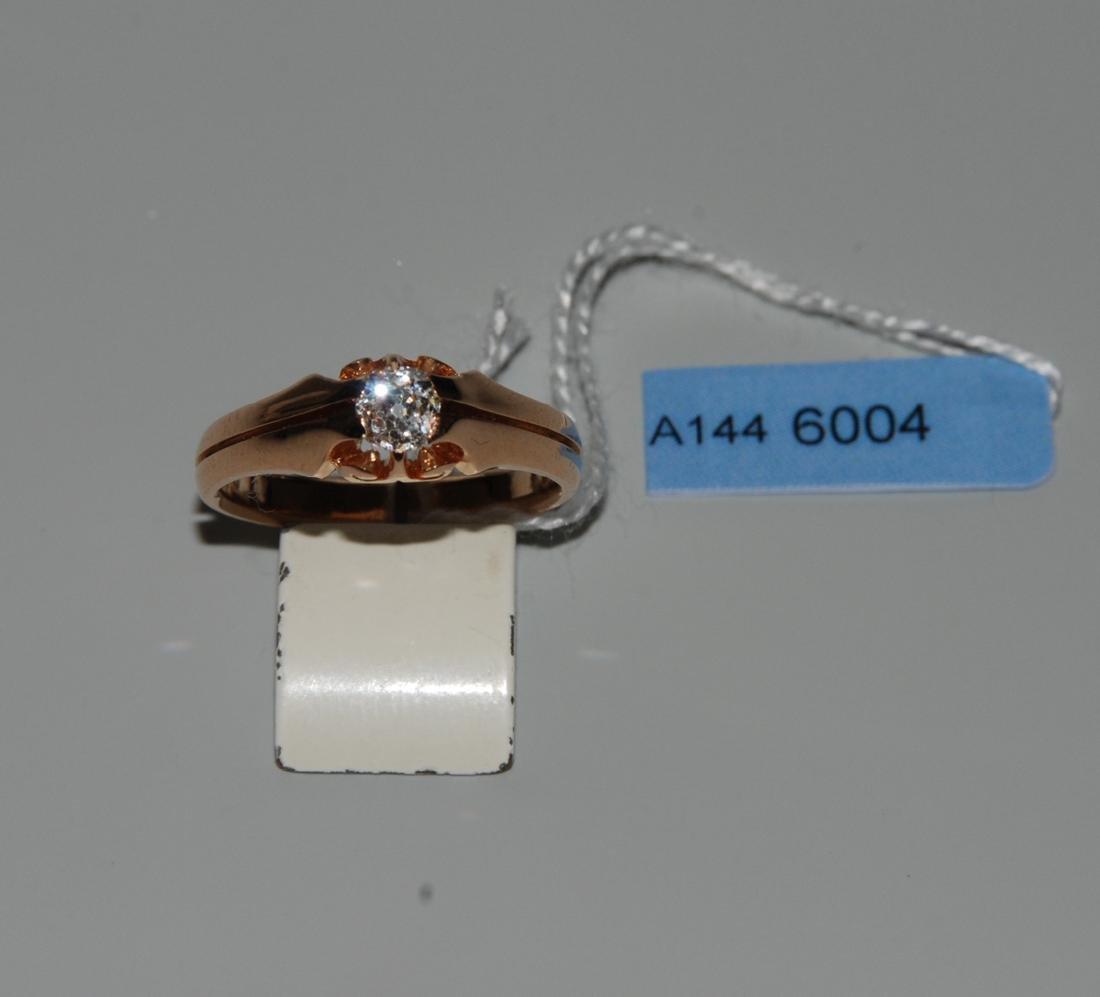 Diamant-Ring Anfang 20.Jh. 750 Rotgold. 1