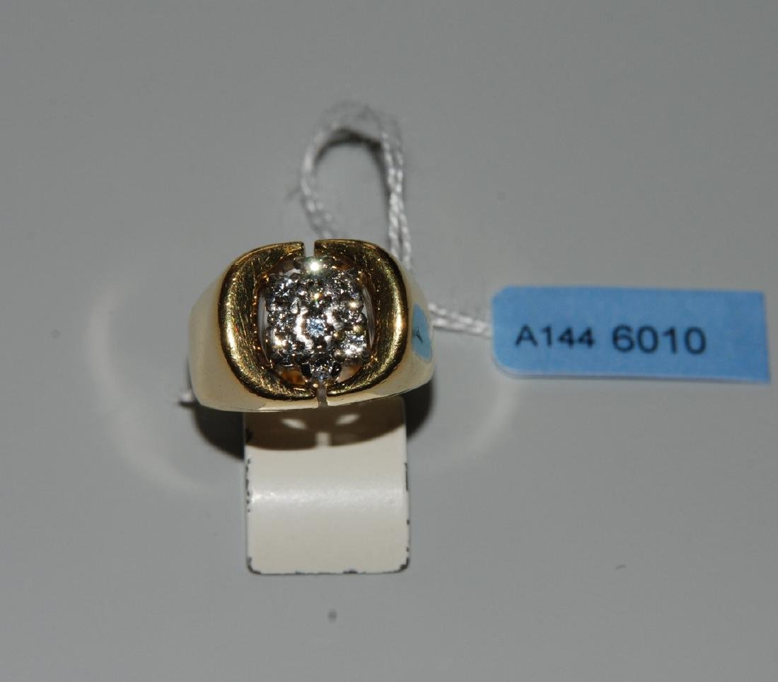 Brillant-Ring Gübelin. 750 Gelb-/Weissgold. 10