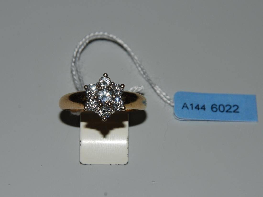 Brillant-Ring Frankreich. 750 Gelb-/Weissgold. 7