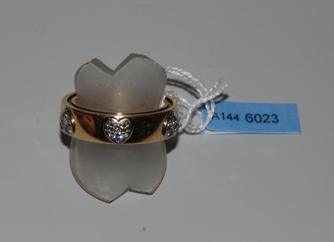 Brillant-Ring Bucherer. Modell Dizzler. 750 Gelb- und
