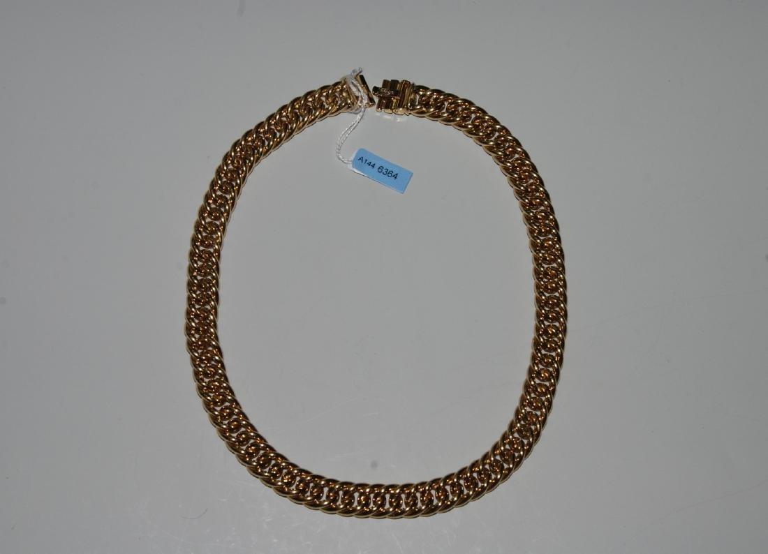 Gold-Collier 750 Gelbgold. L 42 cm, 55,6 g.