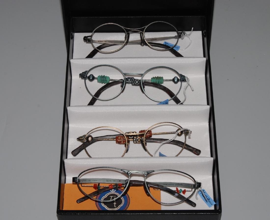 Lot: 4 Silhouette Stein-Brillen Serie Tibet.