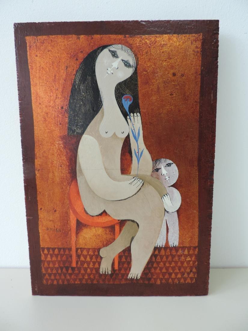 "Briss, Sami (geboren in Iasi 1930) ""Le tabouret rouge""."