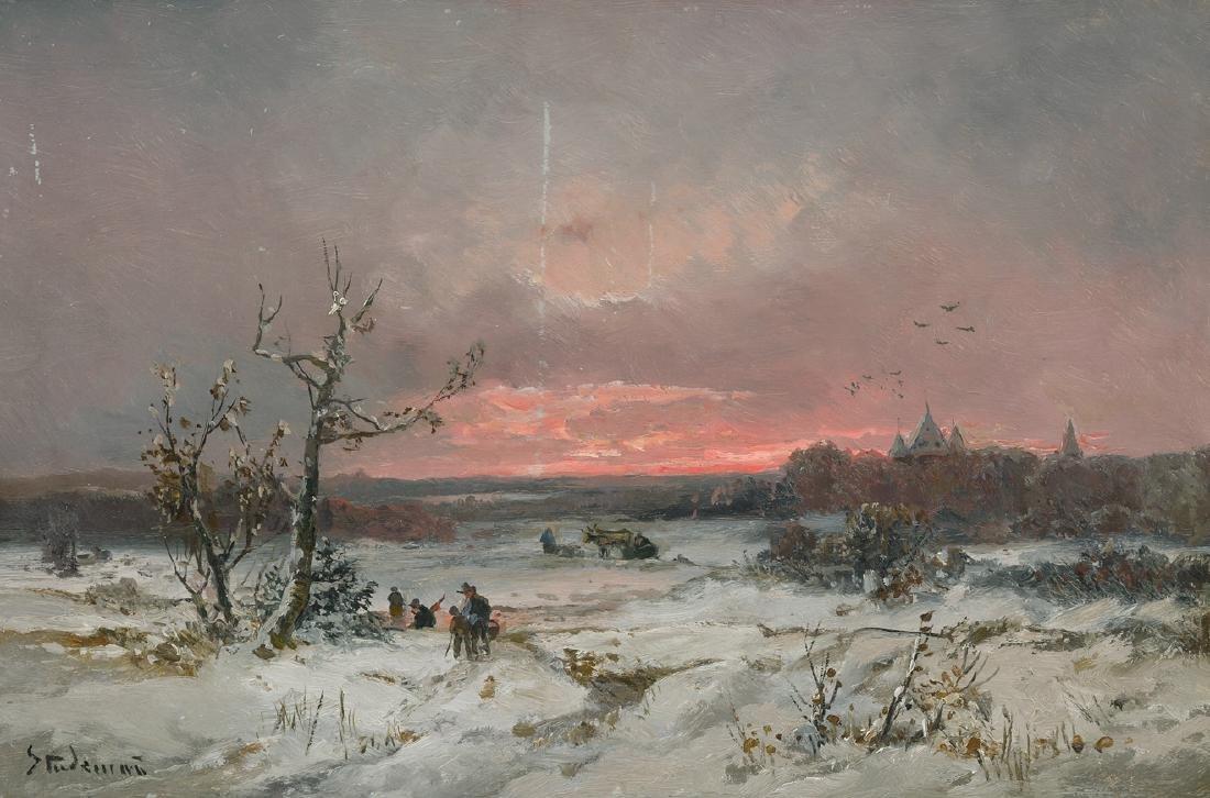 Stademann, Adolf  (1824 München 1895) Winterlandschaft