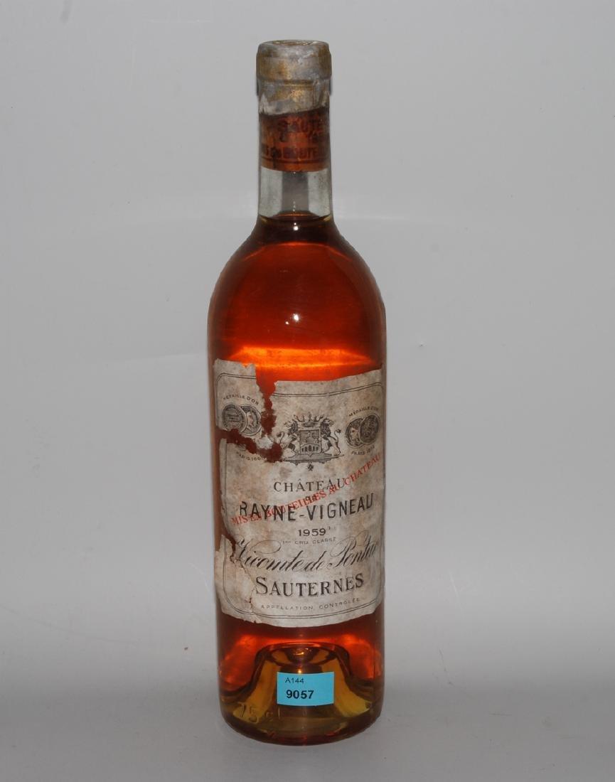 Chateau Rayne Vigneau 1959. Grand Cru. Sauternes. 1