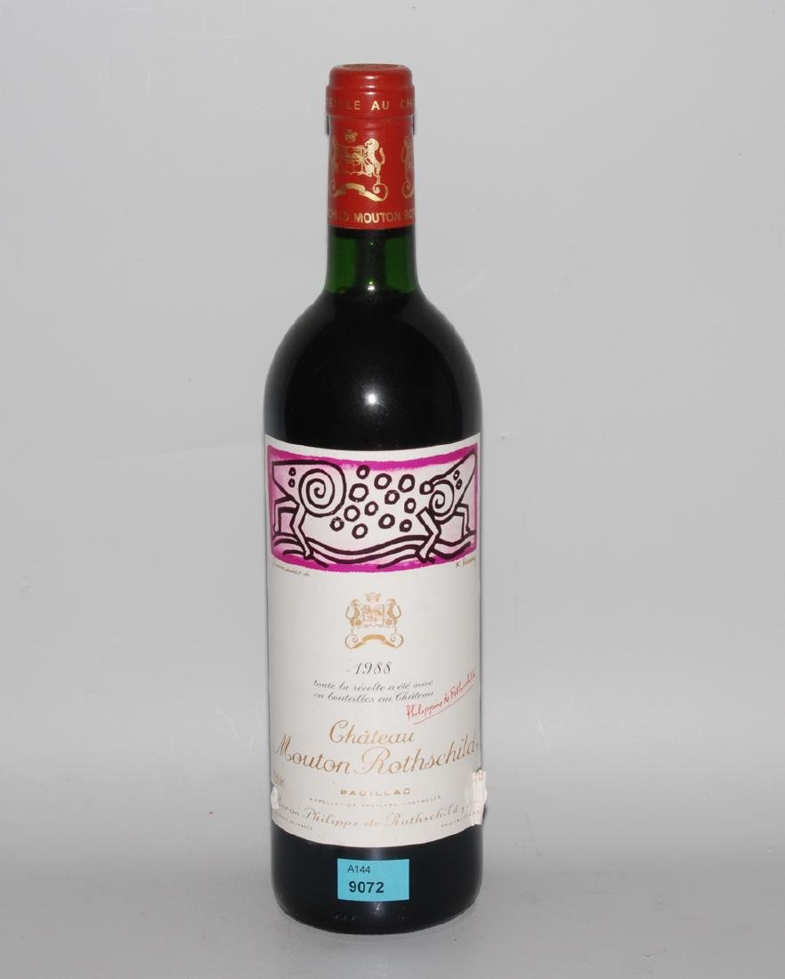Chateau Mouton Rothschild 1988. 1er Grand Cru.