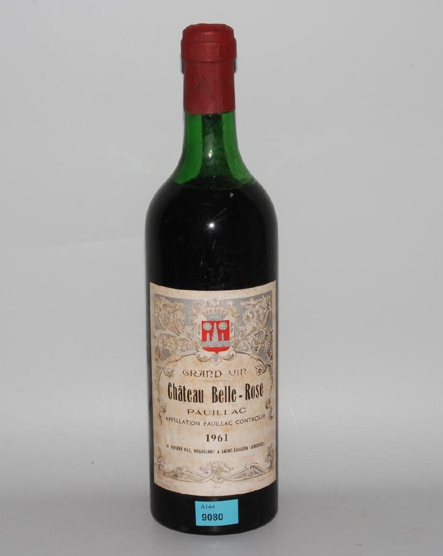 Sammelnr. Bordeaux Chat. Belle Rose, 61 Pauillac, 3 Fl.