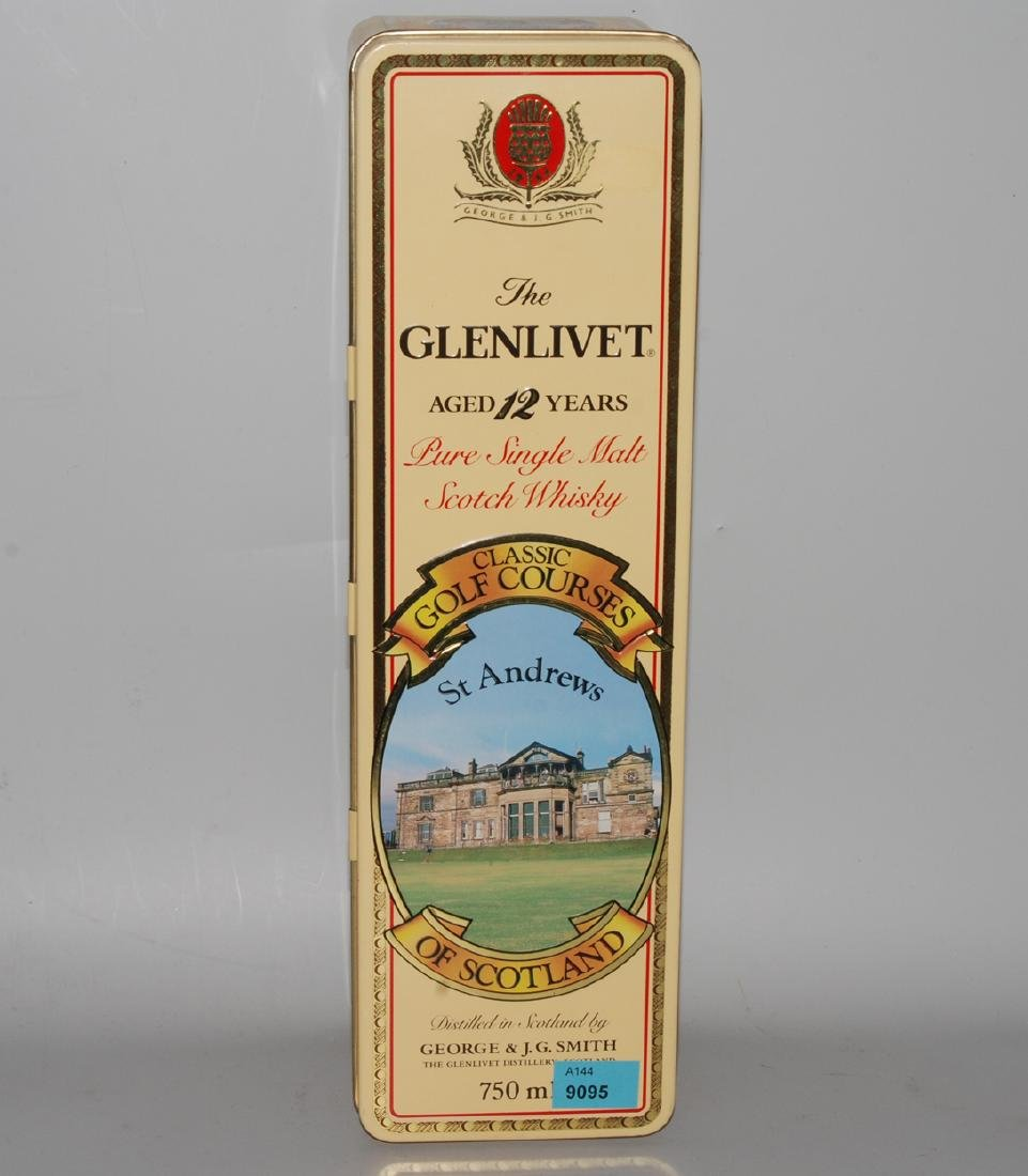Glenlivet Pure single Malt Scotch Whisky aged 12 years.