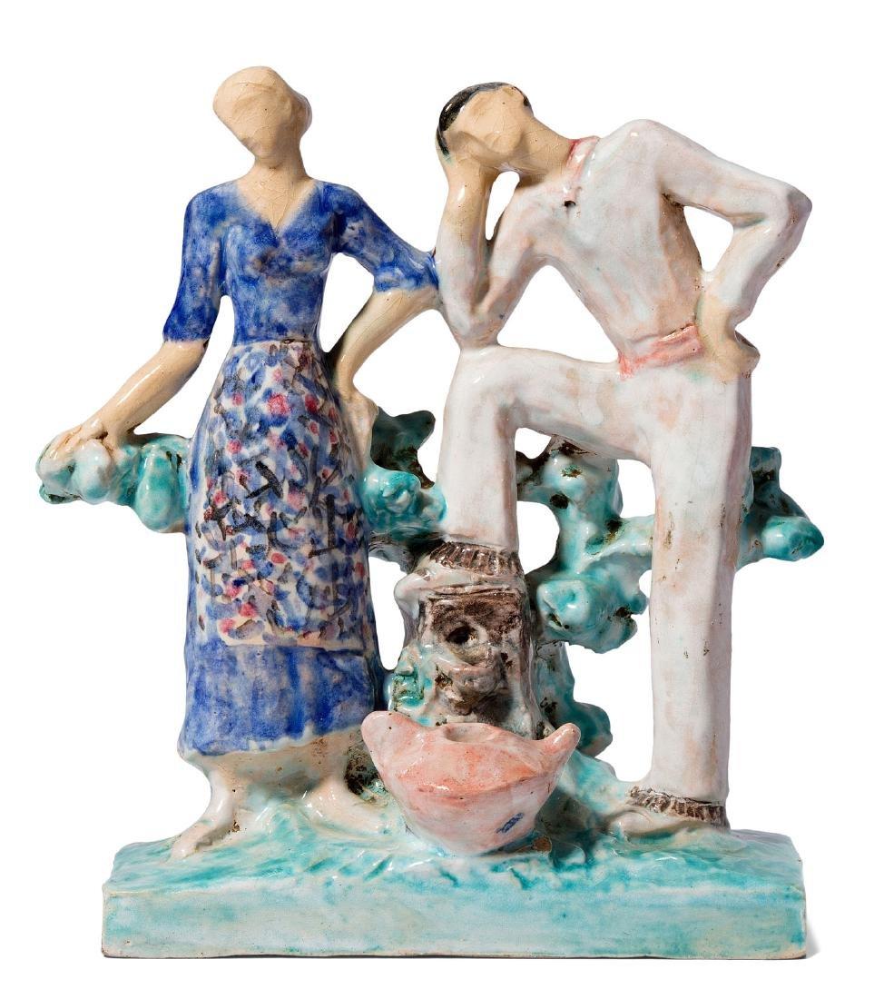 Figurengruppe, Edouard Cazaux (1889–1974) Italien.