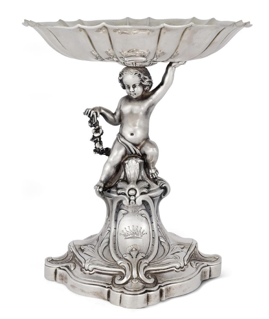 Kleiner Tafelaufsatz Frankreich, 19.Jh. Silber.