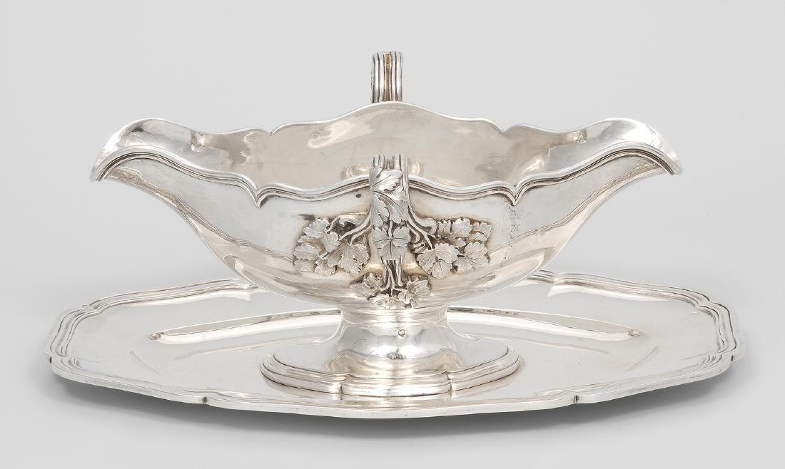 Saucière Paris, 1868–88. Silber. Meistermarke Paillard