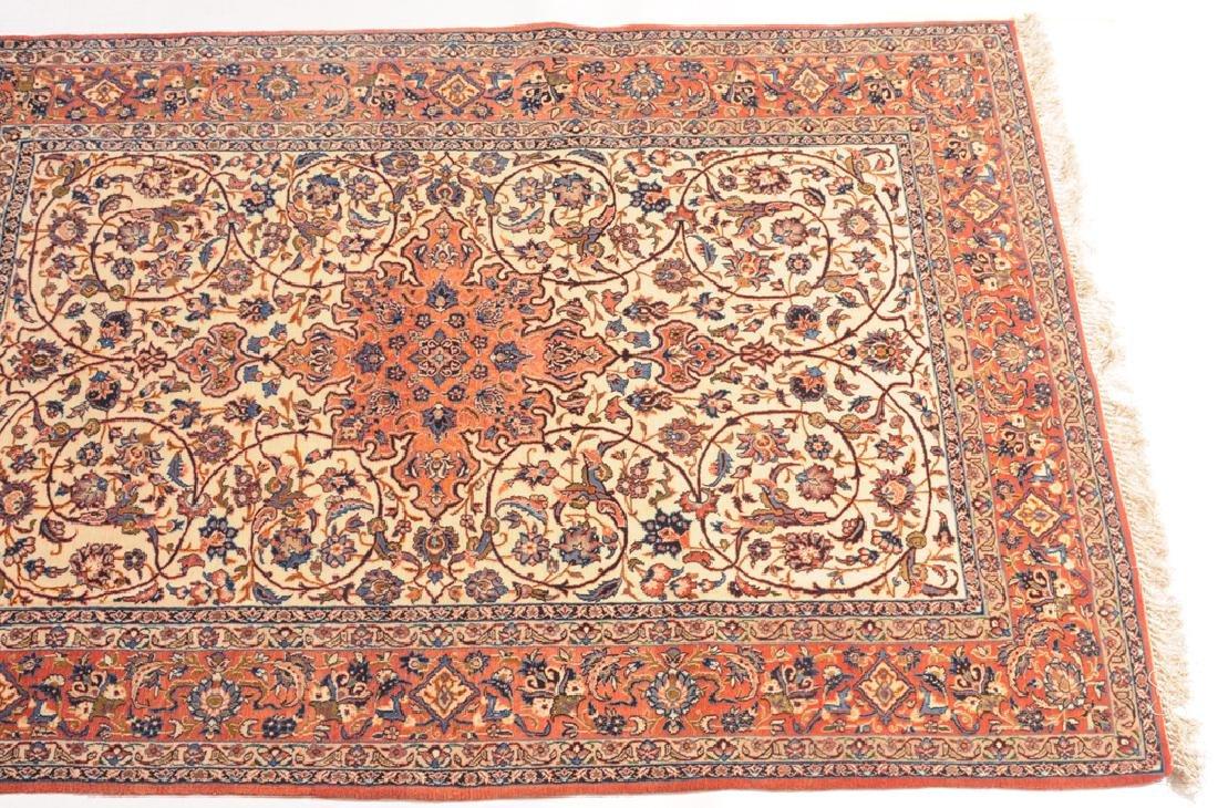 Isfahan Z-Iran, um 1910. Kette aus Seide. Auf weissem - 2