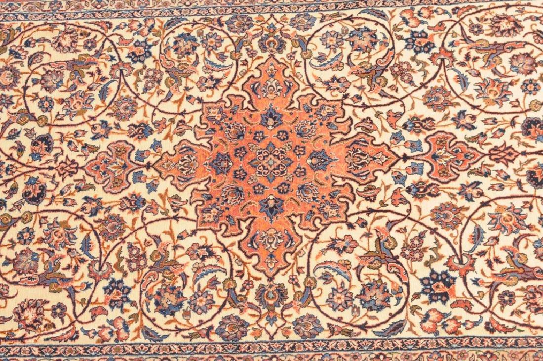 Isfahan Z-Iran, um 1910. Kette aus Seide. Auf weissem - 3