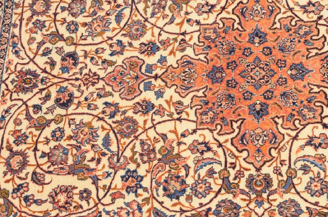 Isfahan Z-Iran, um 1910. Kette aus Seide. Auf weissem - 7