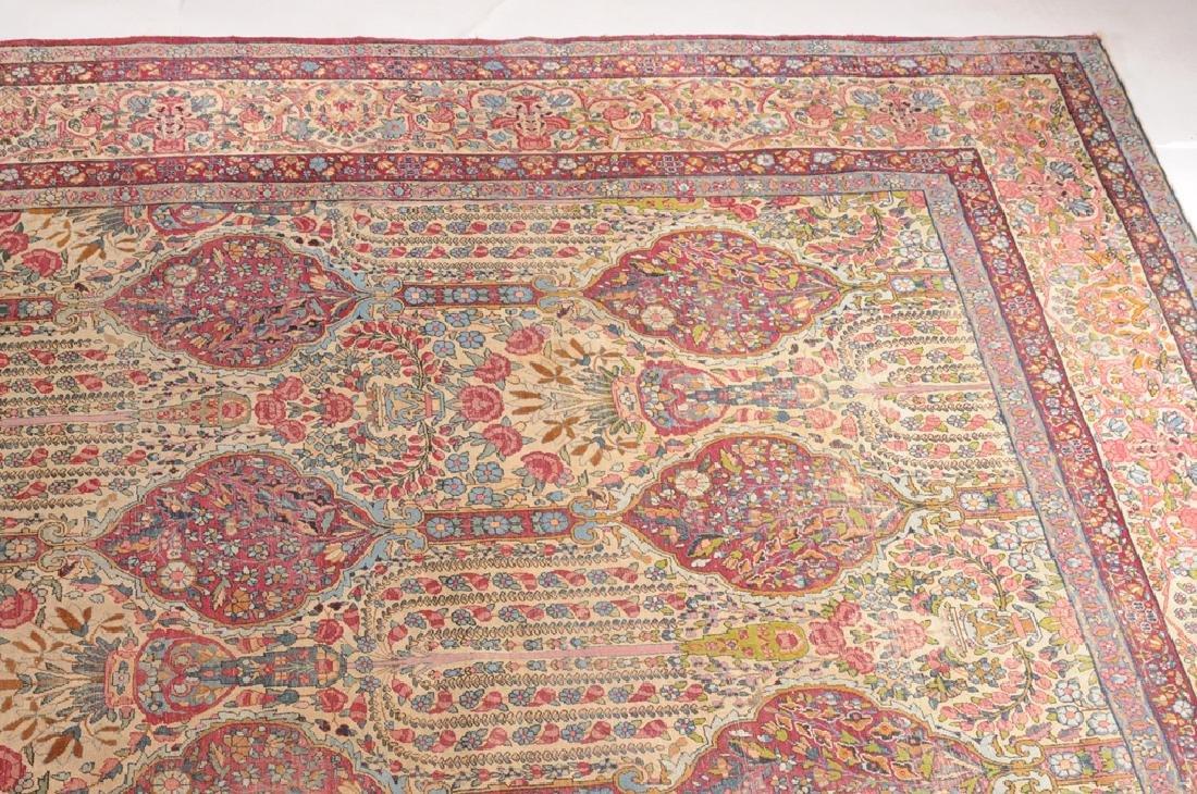 Kirman S-Iran, um 1900. Auf hellem Grund sind in - 7