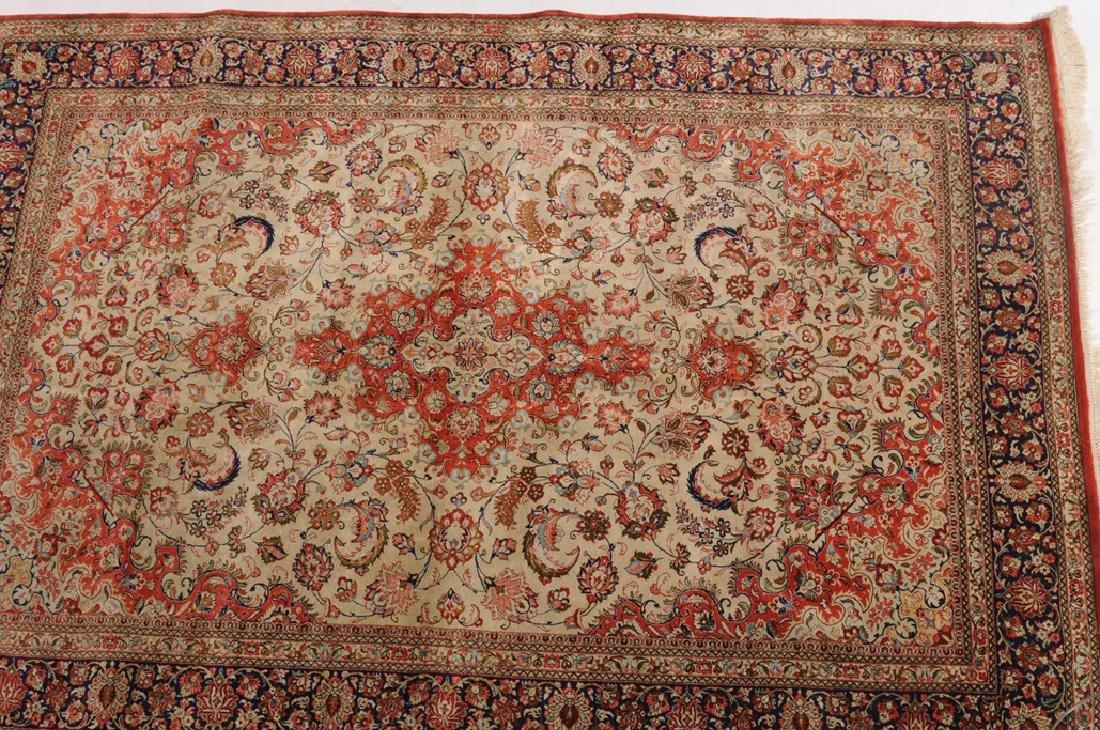 Ghom-Seide Z-Iran, um 1980. Flormaterial reine Seide. - 3