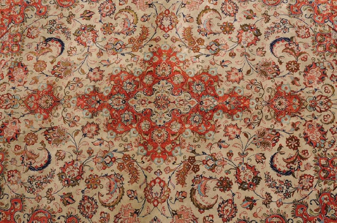 Ghom-Seide Z-Iran, um 1980. Flormaterial reine Seide. - 4