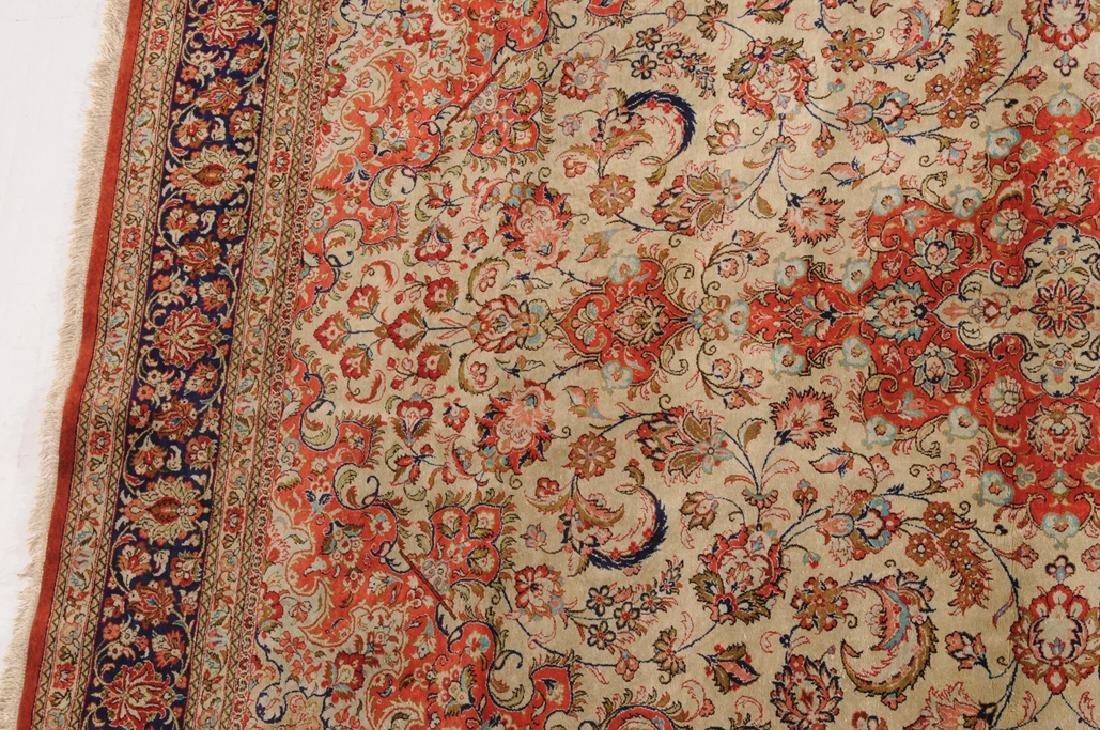 Ghom-Seide Z-Iran, um 1980. Flormaterial reine Seide. - 6