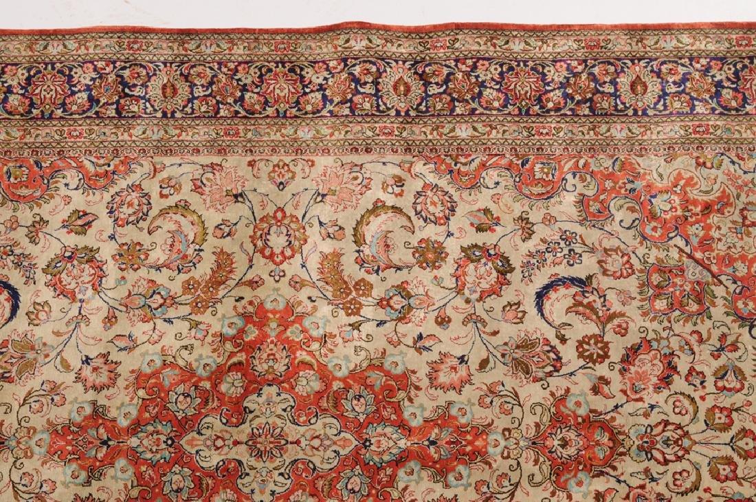 Ghom-Seide Z-Iran, um 1980. Flormaterial reine Seide. - 8