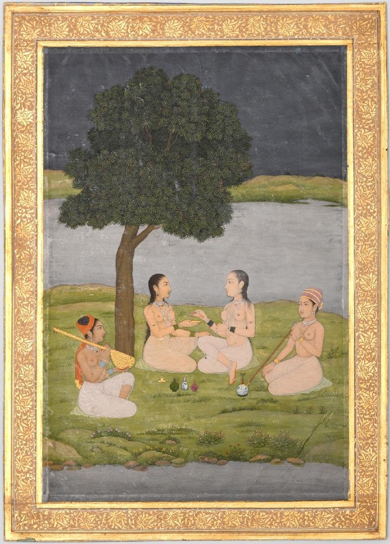 Miniaturmalerei Indien, 19.Jh. Pahari-Schule. Farbe und