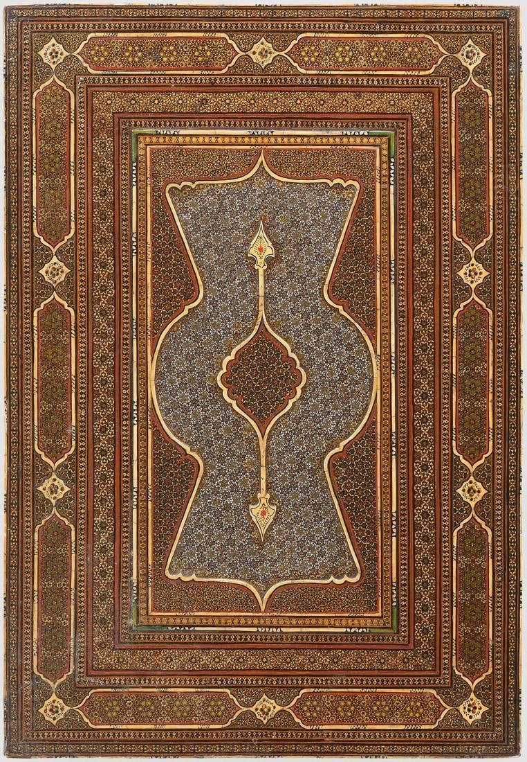 Hochzeitsspiegel Persisch, um 1900. Holz, Mosaik