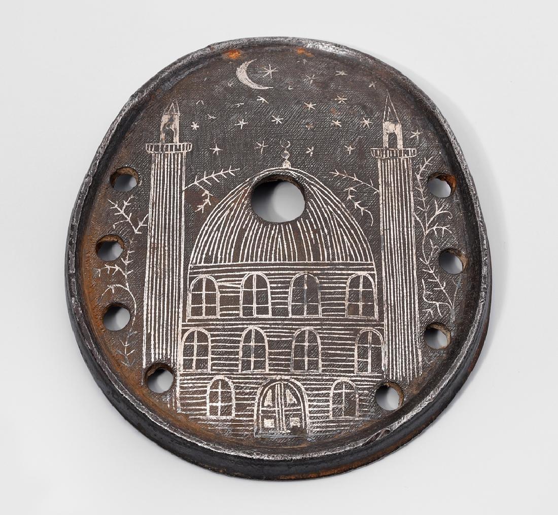 Hufeisen Osmanisch, um 1900. Eisen mit Silbereinlagen.