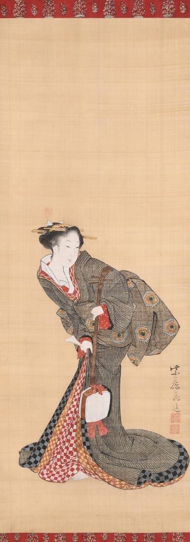 Kitagawa, Fujimaro (1790–1850) Japan. Tusche und Farbe