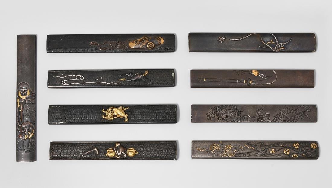 Lot: 9 Kozuka Japan, Edo-Zeit. Kupfer, Shakudô und