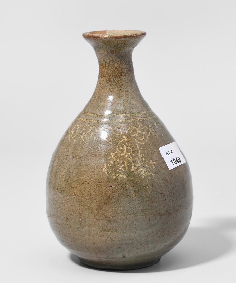 Kleine Flasche Korea, Goryeo-Dynastie. Celadon mit