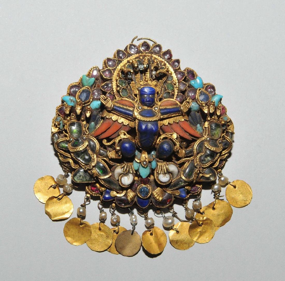 Anhänger oder Bindia Nepal, 1.Hälfte 19.Jh. Gold - 2