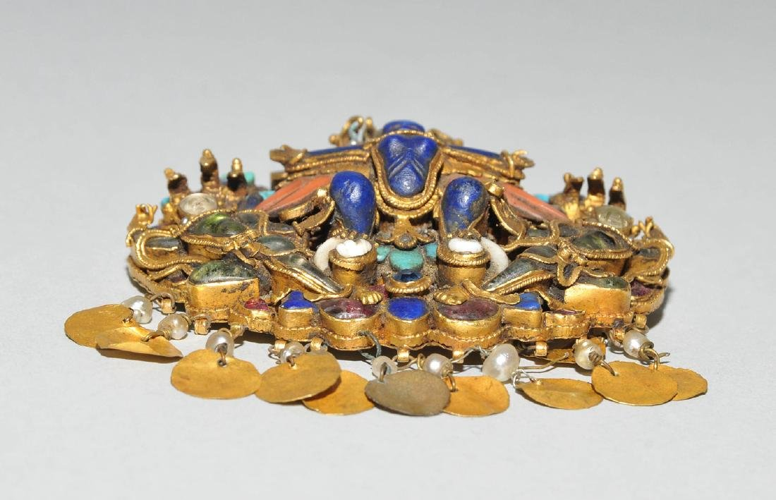 Anhänger oder Bindia Nepal, 1.Hälfte 19.Jh. Gold - 3