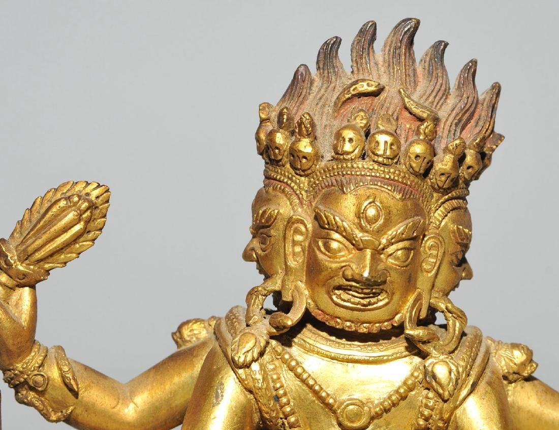 Mahakala in Yab-Yum Tibet. Feuervergoldete Bronze. Der - 10