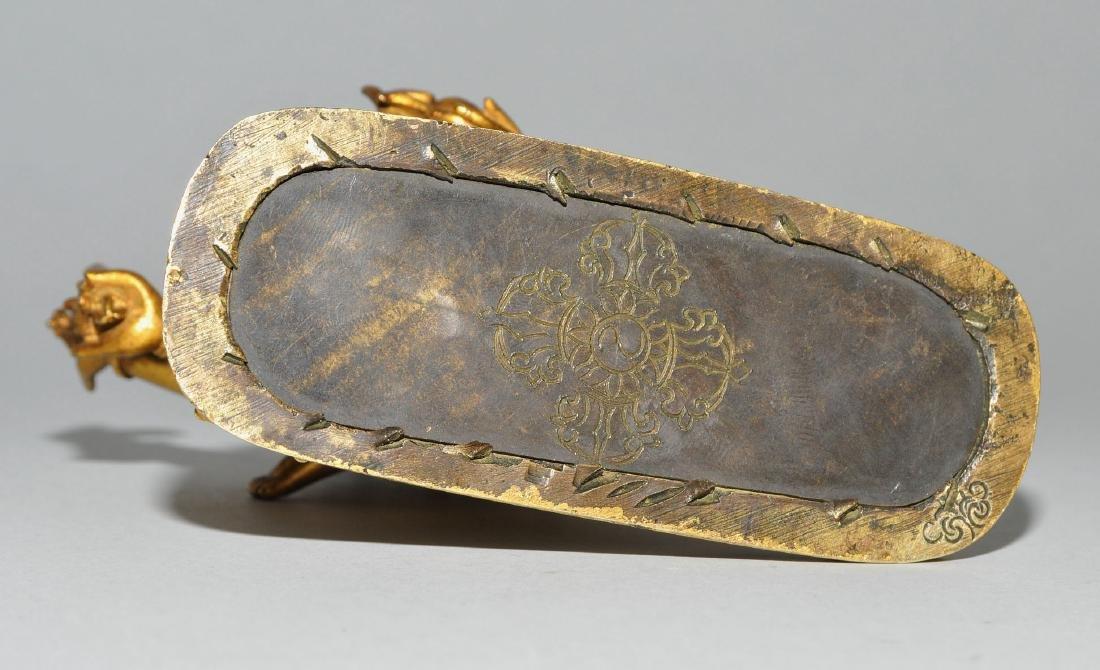 Mahakala in Yab-Yum Tibet. Feuervergoldete Bronze. Der - 8