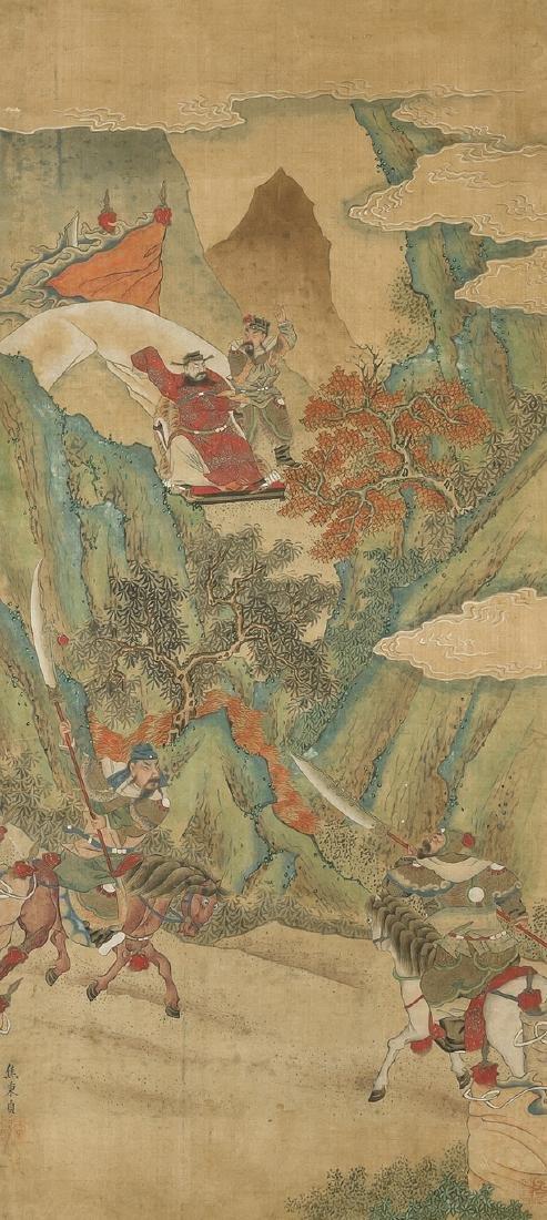 Nach Jiao Bingzhen (1689–1726) China. Tusche und Farbe