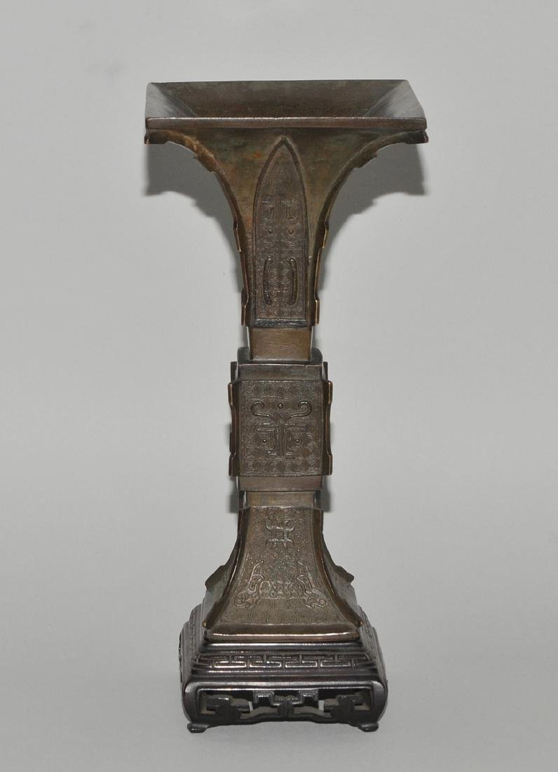 Ritualgefäss vom Typ Fang Gu China, Qing-Dynastie. - 4