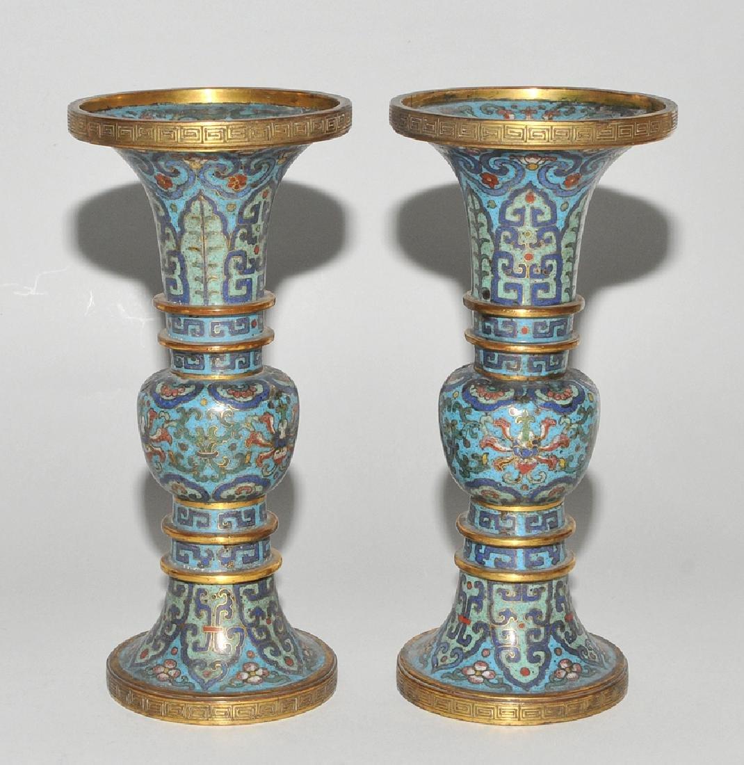 Fünfteilige Altargarnitur China, späte Qing-Dynastie. - 10