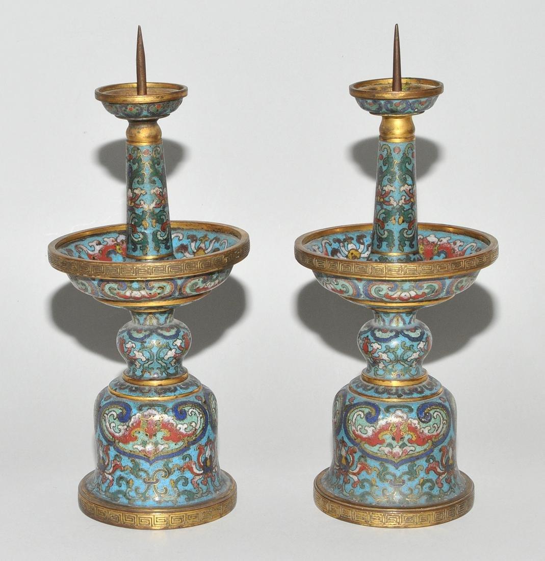 Fünfteilige Altargarnitur China, späte Qing-Dynastie. - 2