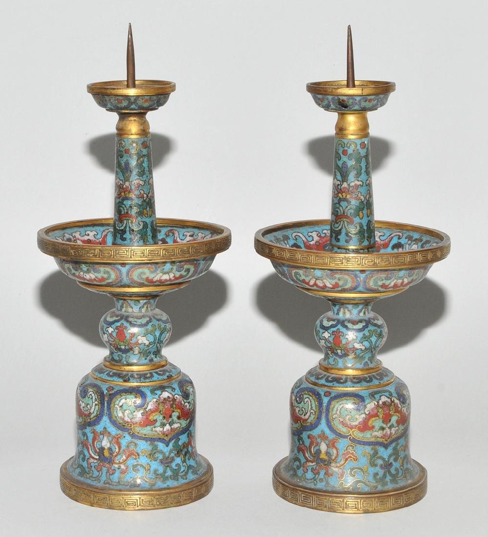 Fünfteilige Altargarnitur China, späte Qing-Dynastie. - 3