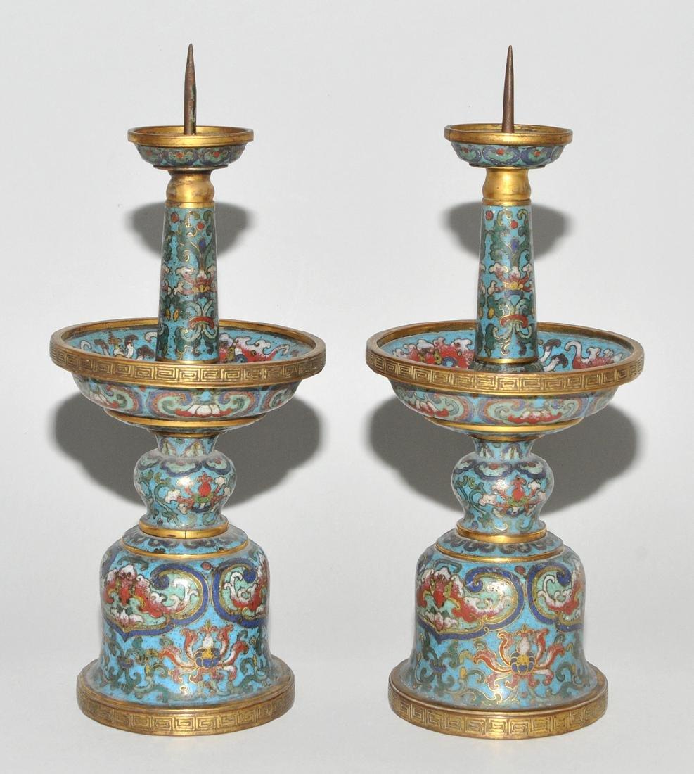 Fünfteilige Altargarnitur China, späte Qing-Dynastie. - 4