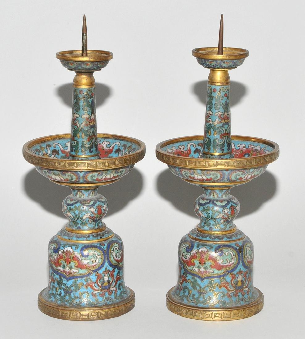 Fünfteilige Altargarnitur China, späte Qing-Dynastie. - 5