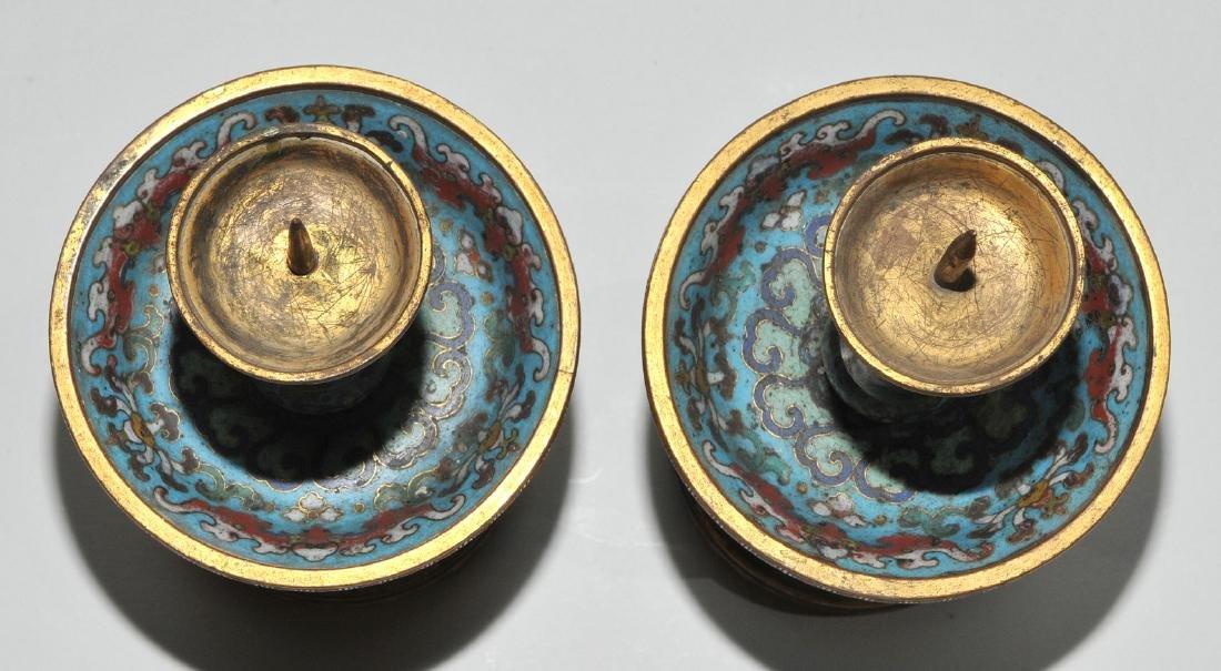 Fünfteilige Altargarnitur China, späte Qing-Dynastie. - 6