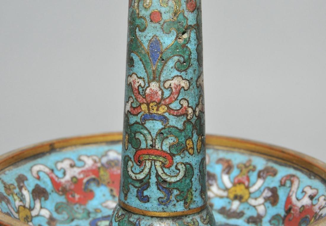 Fünfteilige Altargarnitur China, späte Qing-Dynastie. - 8
